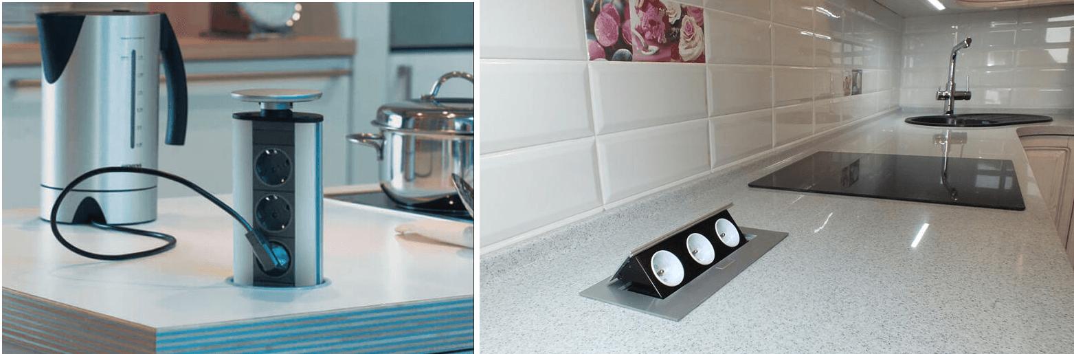0584990231a7 Встраиваемые выдвижные розетки для столешницы на кухню - выбор и ...